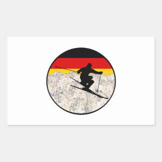 Sticker Rectangulaire Ski Allemagne