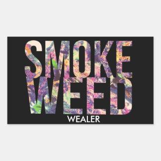 STICKER RECTANGULAIRE SMOKE WEED WEALER