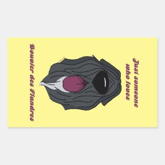 Sticker Rectangulaire Someone who Bouvier love du Flandres
