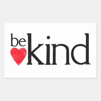 Sticker Rectangulaire Soyez aimable - des sujets de gentillesse