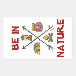 Sticker Rectangulaire Soyez en nature