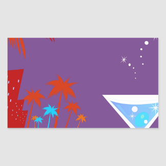 Sticker Rectangulaire Spa Martini de santé