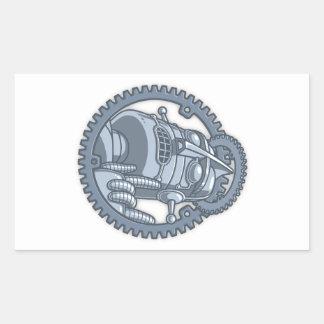 Sticker Rectangulaire St Metallicus