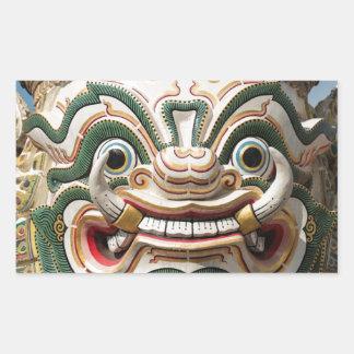 Sticker Rectangulaire Statue de démon de Yaksha, Bangkok