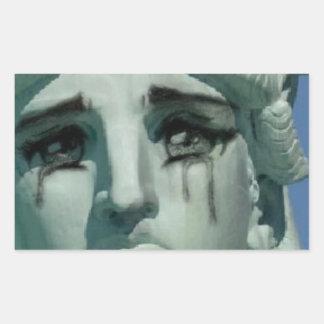 Sticker Rectangulaire Statue de la liberté pleurante