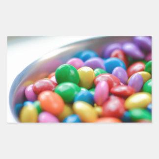 Sticker Rectangulaire sucrerie colorée