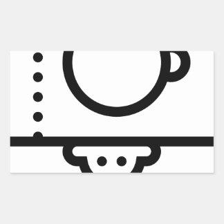 Sticker Rectangulaire Support de trépied d'appareil-photo