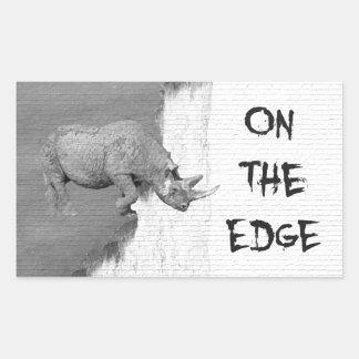 Sticker Rectangulaire Sur The Edge