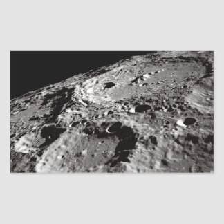 Sticker Rectangulaire surface lunaire