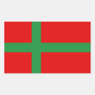 Sticker Rectangulaire Symbole de province de région de drapeau de