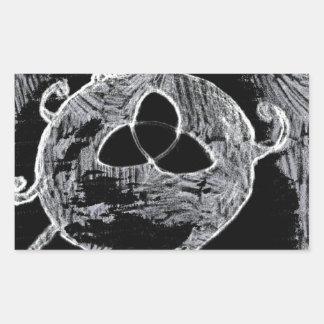 Sticker Rectangulaire symbole wiccan pour les sorcières