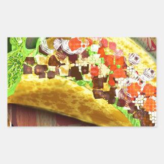 Sticker Rectangulaire Taco de pixel