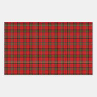 Sticker Rectangulaire Tartan Stuart de Noël