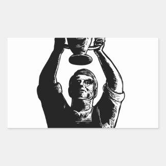 Sticker Rectangulaire Tasse de levage Scratchboard de championnat de