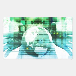 Sticker Rectangulaire Technologie futuriste de la Science comme art de