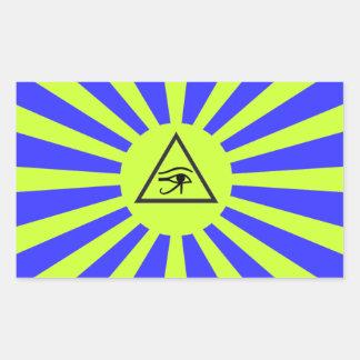 Sticker Rectangulaire Temple exaltant de l'autocollant de suprématie de