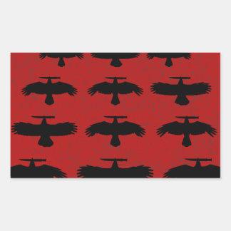Sticker Rectangulaire Tentative de meurtre - escadron des corneilles