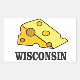 Sticker Rectangulaire Tête de fromage du Wisconsin