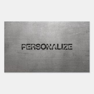 Sticker Rectangulaire Texture balayée en métal