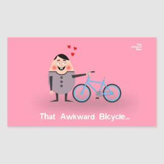 Sticker Rectangulaire That Awkward Bicycle