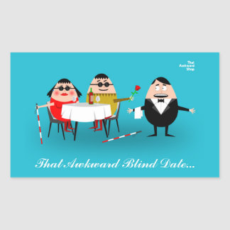 Sticker Rectangulaire That Awkward Blind Date