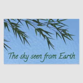 Sticker Rectangulaire the sky seen from earth