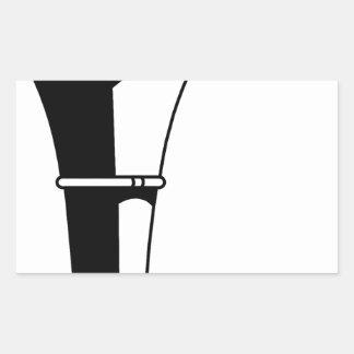 Sticker Rectangulaire Torche