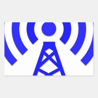 Sticker Rectangulaire Tour de réseau