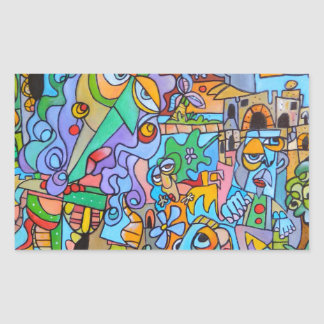 Sticker Rectangulaire Tour de The Sun par l'artiste italien, Lorenzo