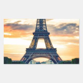 Sticker Rectangulaire Tour Eiffel Paris même le voyage européen
