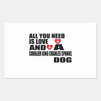 Sticker Rectangulaire Tous vous avez besoin d'amour l'ÉPAGNEUL de ROI