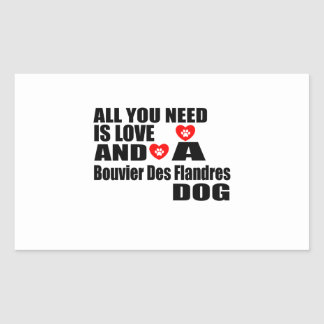 Sticker Rectangulaire Tous vous avez besoin de la conception de chiens
