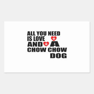 Sticker Rectangulaire Tous vous avez besoin des conceptions de chiens de