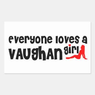 Sticker Rectangulaire Tout le monde aime une fille de Vaughan