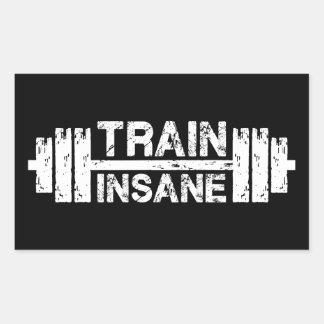 Sticker Rectangulaire Train aliéné - haltère, gymnase, séance