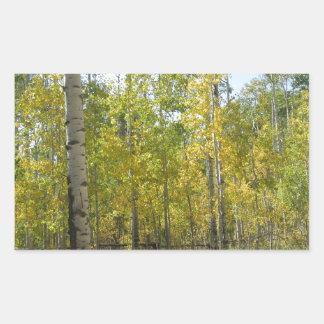 Sticker Rectangulaire Trembles en automne