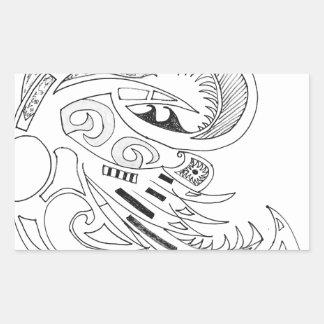 Sticker Rectangulaire Tribal libre