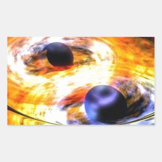 Sticker Rectangulaire trou noir