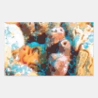 Sticker Rectangulaire trous de fond océanique