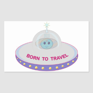 STICKER RECTANGULAIRE UFO