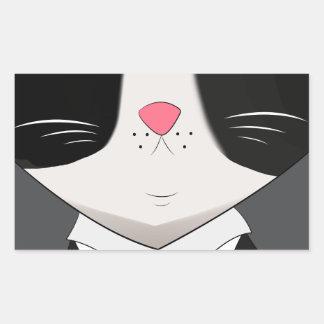Sticker Rectangulaire un chat soutenu avec le costume de smoking