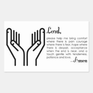 Sticker Rectangulaire Une prière pour la patience et l'amour