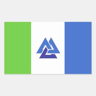 Sticker Rectangulaire Union collaborée de l'autocollant de triangle de