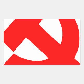 Sticker Rectangulaire Union Soviétique primitive CCCP de marteau et de