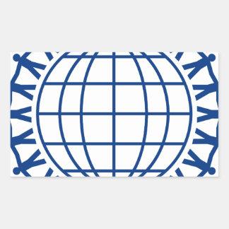Sticker Rectangulaire Unissez autour du monde