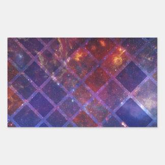 Sticker Rectangulaire Univers de bloc