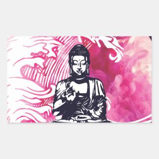 Sticker Rectangulaire Vague de Bouddha d'ouragan
