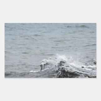Sticker Rectangulaire Vagues sur la glace
