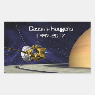 Sticker Rectangulaire Vaisseau spatial de mission de Cassini Huygens