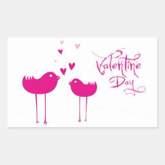 Sticker Rectangulaire Valentine Day  -